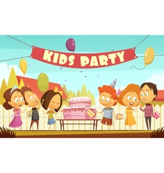 Kids Party Cartoon Background vector
