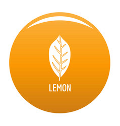 lemon leaf icon orange vector image