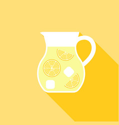 Lemonade juice jug icon vector