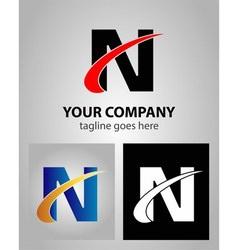 Letter N logo template vector