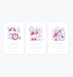 life insurance - line design style web vector image