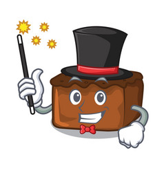 Magician brownies mascot cartoon style vector