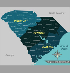 map state south carolina usa vector image