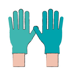 Medical latex gloves vector