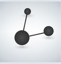 minimalistic share connection black icon vector image