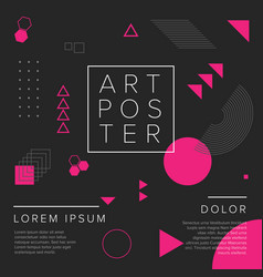 modern geometry art poster template vector image