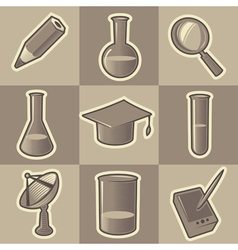 Monochrome science icons vector image