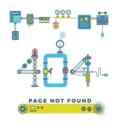 Page not found error 404 concept with vector