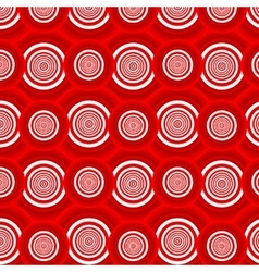 Pattern of red circles vector image