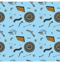 Pattern with the image of the new parts for the vector image