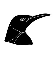 penguin icon in black style isolated on white vector image