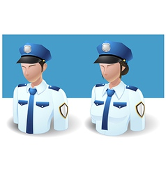 People Icons Policeman Man and Women vector image