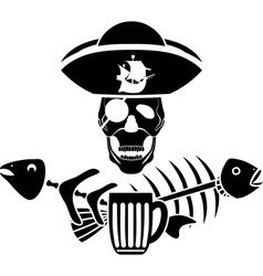 Piracy tavern symbol vector image