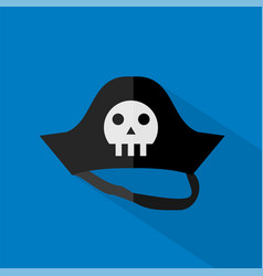Pirate hat icon set of great flat icons design vector
