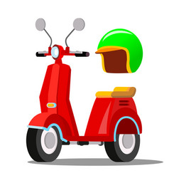 red scooter classic city transport vector image