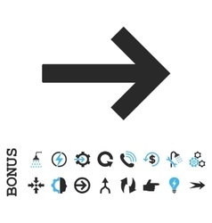 Right Arrow Flat Icon With Bonus vector image