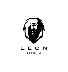 Roaring lion head logo icon vector