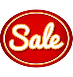 Sale oval label background sticker vector