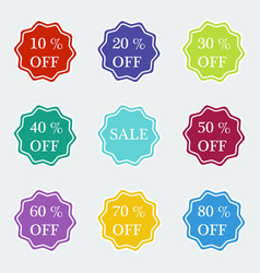 Sale symbol special offer label vector