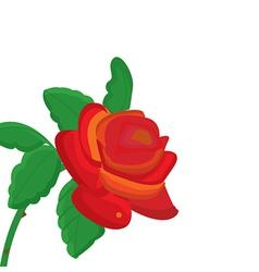 Single rose vector
