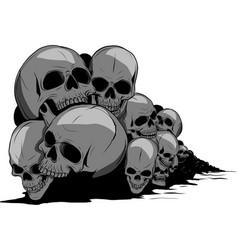 Skull and crossbones human skulls and bones with vector