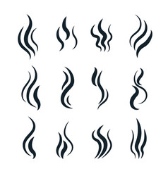 smell symbols heating pictograms cooking steam vector image