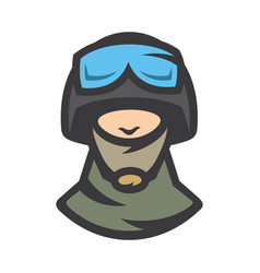 special force warrior sign vector image