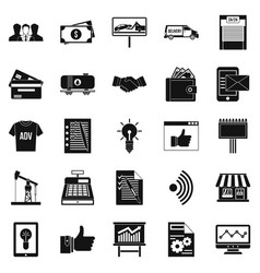 Spending icons set simple style vector
