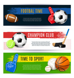 sport horizontal banners collection vector image