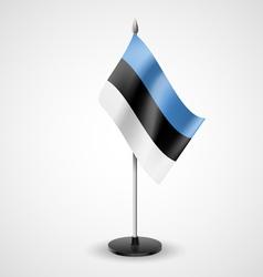 Table flag estonia vector