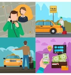 Taxi city transportation service concepts vector image