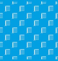 tennis net pattern seamless blue vector image