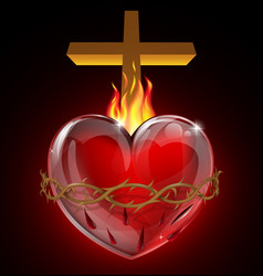 the sacred heart vector image