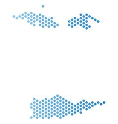 Usa virgin islands map hex tile scheme vector