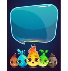 Vertical banner with little cute monsters vector
