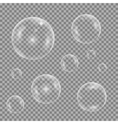 Water bubble set vector