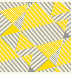yellow and gray geometric seamless pattern vector image