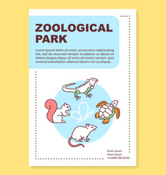 zoological park poster template layout reptiles vector image