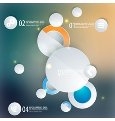Abstract business geometrical design with circles vector image