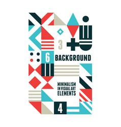 abstract minimal poster vector image