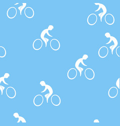 cyclist seamless pattern vector image vector image