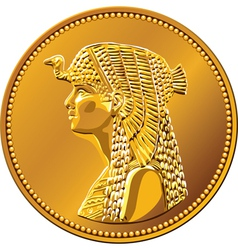 egypt fifty piastres coin vector image vector image