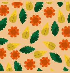 floral leaves differents shape natural design vector image