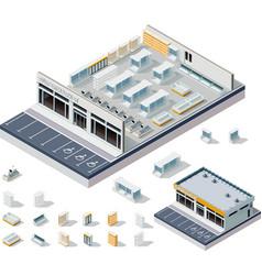 isometric DIY supermarket interior plan vector image