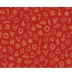 Merry Christmas seamless pattern vector image vector image