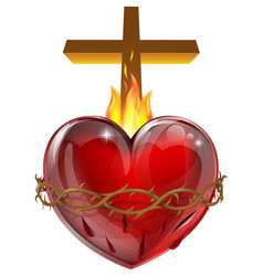 sacred heart vector image vector image