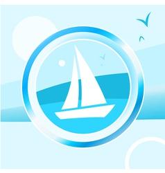 Yacht trip vector image