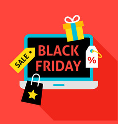 black friday flat concept vector image