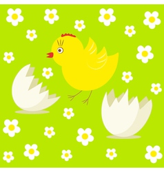 cute chick and egg vector image vector image