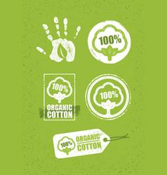 Organic cotton creative concept on grunge rust vector